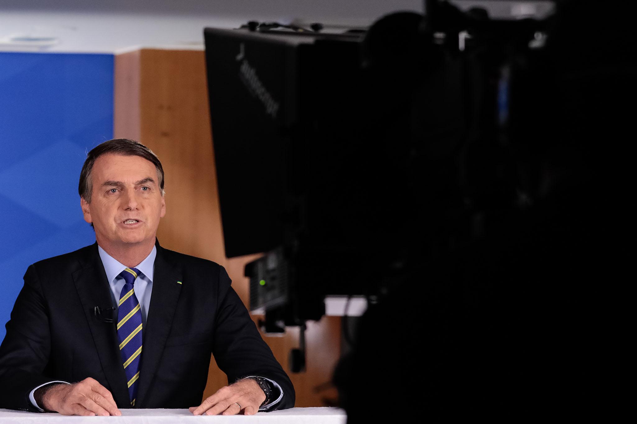 08.04.2020 - Brasília/DF - Pronunciamento do Presidente da República, Jair Bolsonaro em Rede Nacional de Rádio e Televisão. Foto: Carolina Antunes/PR