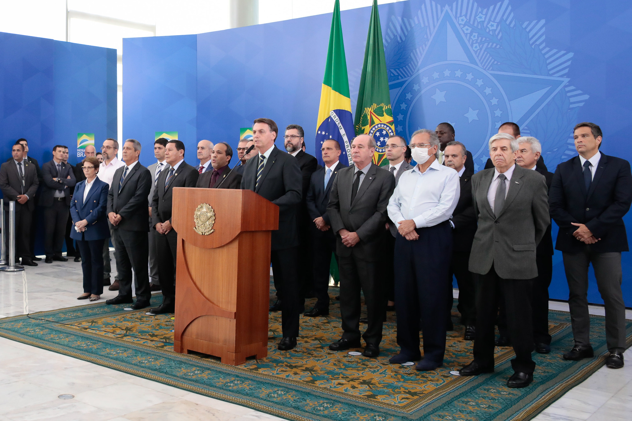 24.04.2020 - Brasília/DF - Pronunciamento do Presidente da República, Jair Bolsonaro. Foto: Carolina Antunes/PR