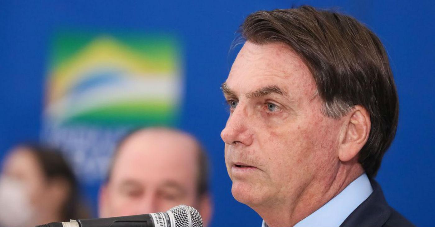 23.03.2020 - Brasília/DF - Presidente Jair Bolsonaro durante declaração à imprensa. Foto: Isac Nóbrega/PR.