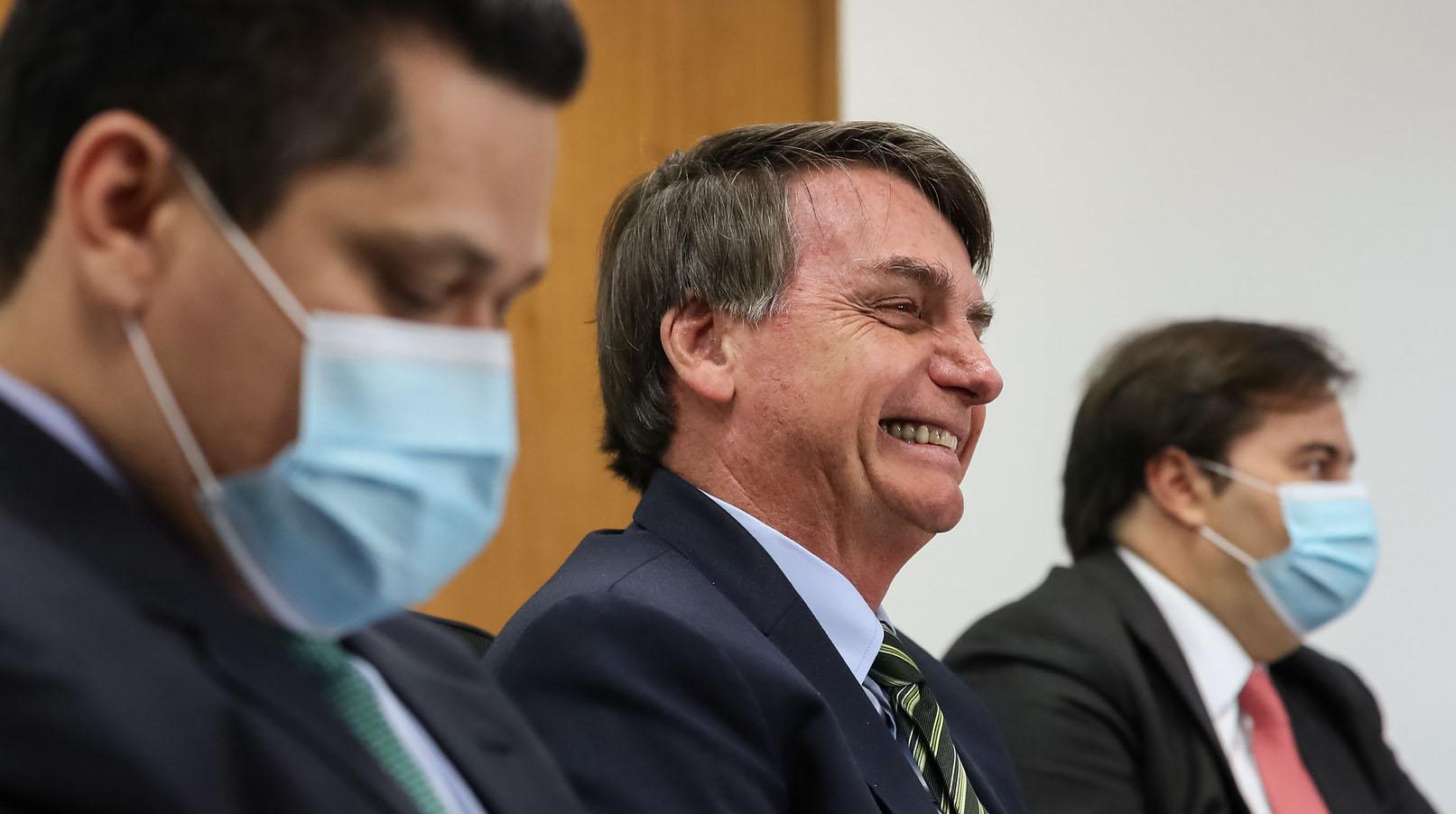 20.05.2020 - Brasília/DF - O presidente Jair Bolsonaro durante videoconferência com Governadores dos Estados. Foto: Marcos Corrêa/PR